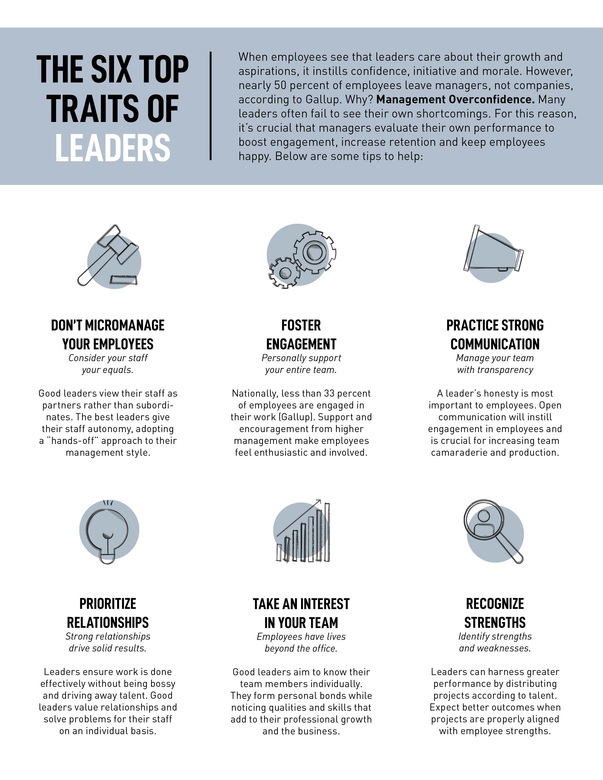 The Six Top Traits of Leaders | Angott Search Group